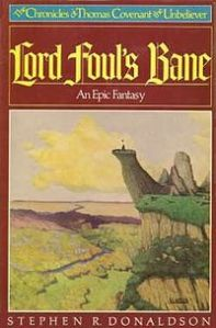 The original cover art of Stephen Donaldson's Lord Foul's Bane.